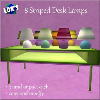 Lok's Striped Desk Lamps Fat Pack