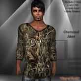 DE Designs - Mens Oversized Mesh Shirts - Field Camo