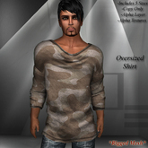 DE Designs - Mens Oversized Mesh Shirts - Desert Camo