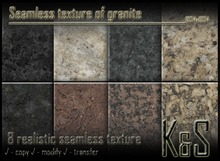 <K&S> Seamless texture of granite (8 textures) Full Perm.