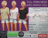 TD Templates Mesh Ladies Draped Tees