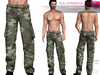 FULL PERM CLASSIC RIGGED MESH Men's Male Camouflage Cargo Combat Pants Trousers - 2 TEXTURES