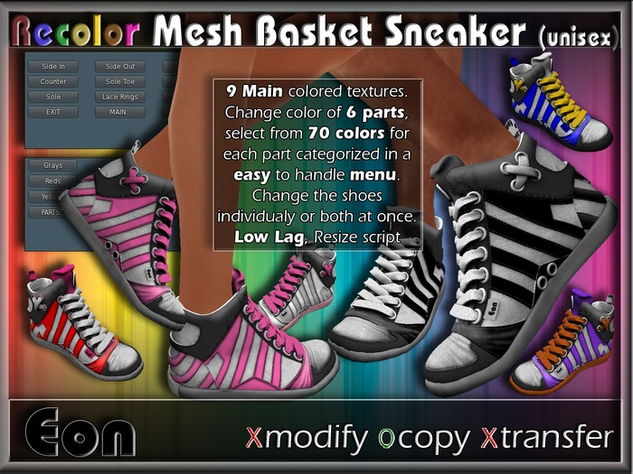 Recolor Mesh Basket Sneakers (female) ..:: EON ::..