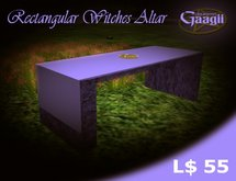 Gaagii Creations - Rectangular Witches Altar (FREEBIE)