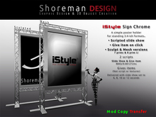 iStyle Poster & Ad Stand Mesh & Sculpt Versions.