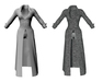 Ladies long coat   full outfit