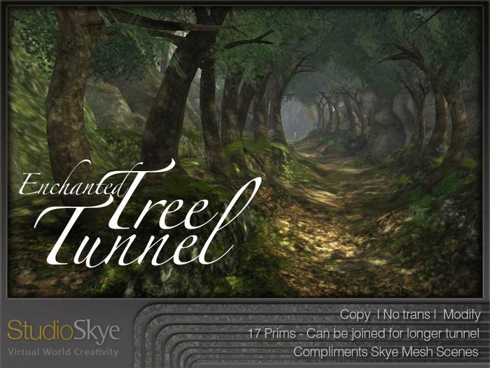 Four Seasons Enchanted Tree Tunnel  100% MESH