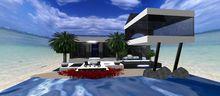 Beach House Modern 1 w/extension ~ 127 prim  37x42 BOXED