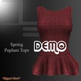 DE Designs - Spring Peplum Top - DEMO