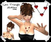 kitsch me - love triangle valentines necklace dollarbie