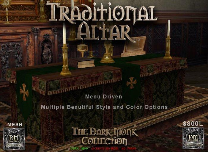 DM Mesh Traditional Altar w/linens