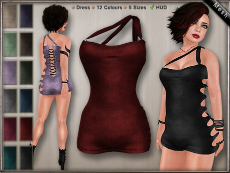 DN Mesh: Slit Dress w HUD