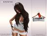 KENVIE . mesh Celine Mini Skirt Demo