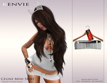 KENVIE . mesh Celine Mini Skirt Demo