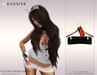 KENVIE . mesh Celine Mini Skirt Black