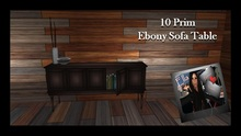 Ebony Sofa Table with Accessories