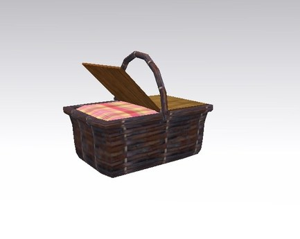 picnic basket lunch box pink