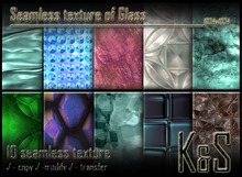 <K&S> Seamless texture of Glass (10 different textures)Full Perm