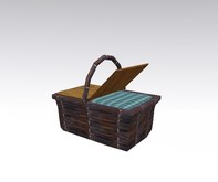 picnic basket lunch box blue