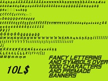 Over 1000 SYMBOLS, LETTERS, PREMADE BANNERS