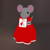 Singing Valentine Grey Mouse with Card