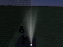 Floor/Ceiling Spotlight 1 Prim Mesh MT