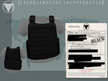 [TRB] Men's Plate Carrier Vest: Black