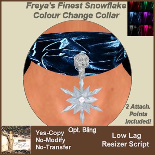 Freya's Finest Snowflake Colour Change Collar