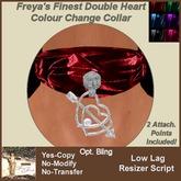 Freya's Finest Double Heart Colour Change Collar