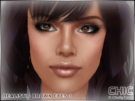 !CHIC! Realistic Brown Eyes 3