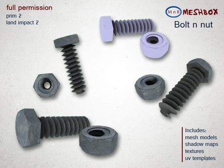 *M n B* Bolt n nut (meshbox)
