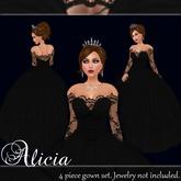 [K~*~S] Alicia - Gown - Obsidian