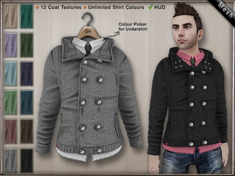 DN Mesh (m): Buttoned Jacket w HUD