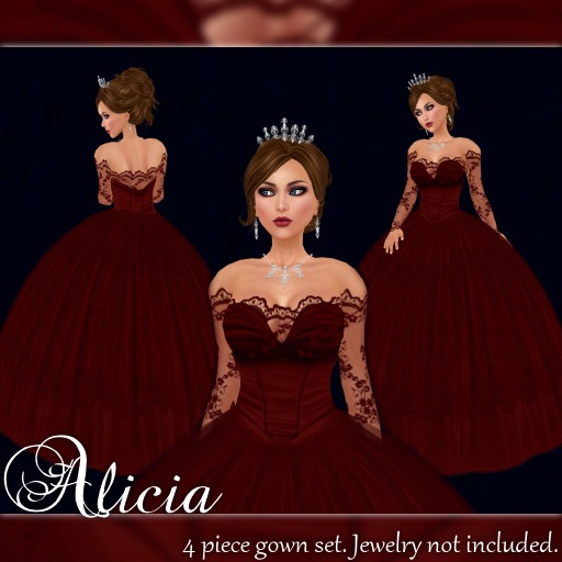 [K~*~S] Alicia - Gown - Ruby