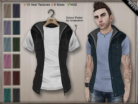 DN Mesh (m): Shirt & Vest w HUD