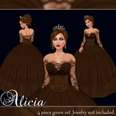 [K~*~S] Alicia - Gown - Chocolate
