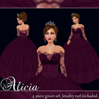 [K~*~S] Alicia - Gown - Wine
