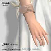 Elemiah Design - Cuff 01 beige