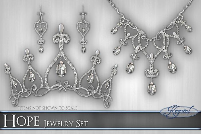 ::: Krystal ::: Hope - Jewelry Set - Silver