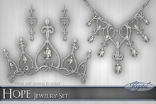 ::: Krystal ::: Hope - Jewelry Set - Silver