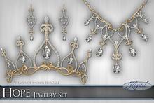 ::: Krystal ::: Hope - Jewelry Set - Gold
