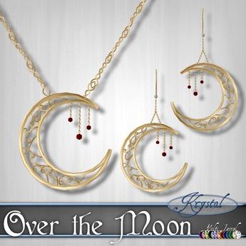 ::: Krystal ::: Over the Moon - Gold (MultiJewel)