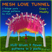 Mesh Love Tunnel - mesh pergola with 9 flower patterns - HUD driven, copy, full modify