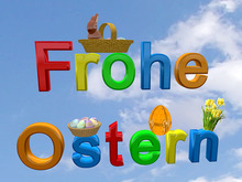 Sign Frohe Ostern