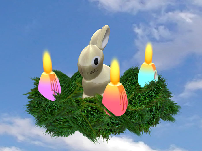 Easter Nest 1 with Bunny and Candles