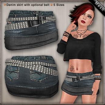 DN Mesh: Jace Skirt - Warm
