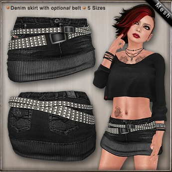 DN Mesh: Jace Skirt - Black