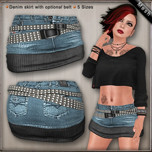 DN Mesh: Jace Skirt - Cool