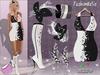 MESH Black & White Flowers Outfit FashionNatic + Lolas Tango Applier