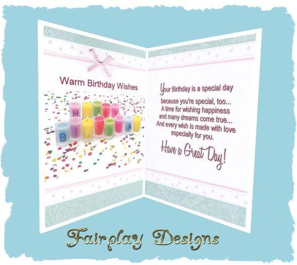 ~FDA~ Warm Birthday Wishes~